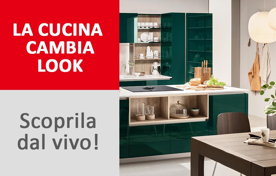 I nuovi modelli e i nuovi colori di Veneta Cucine in esposizione nel ...